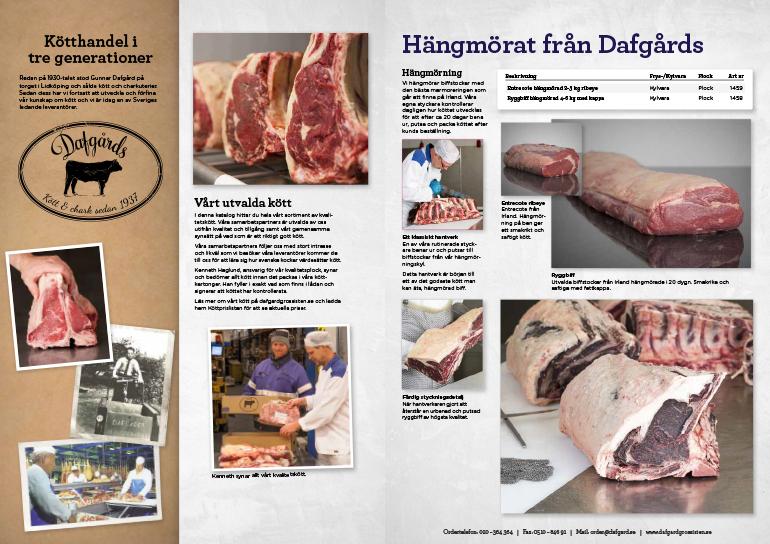 Omslag - Köttkatalog - Dafgårds